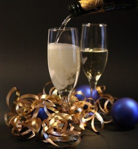 champagne-flutes-celebration-ribbons